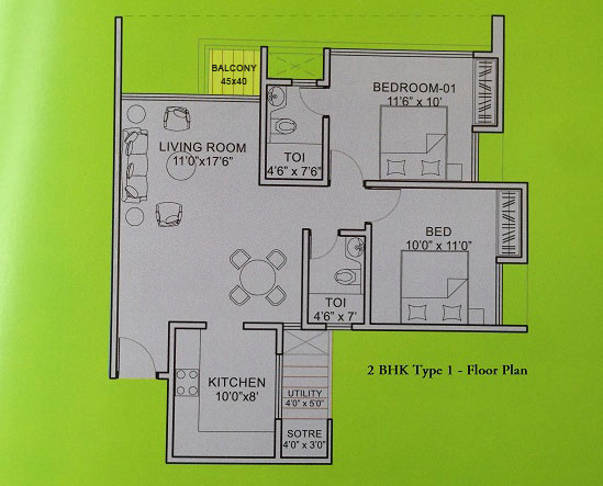 floor plan for 2 bhk apartments in ravet pune floor plan